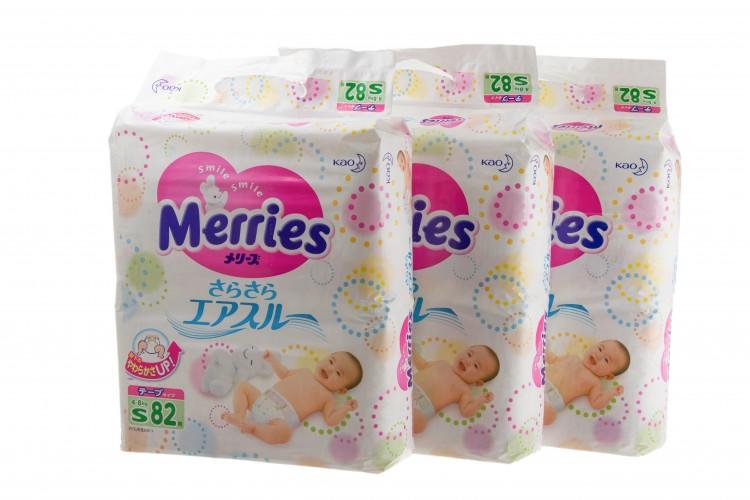 Японские памперсы для новорожденных merries