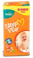 Pampers  Подгузники Sleep & Play Junior (11-18 кг) Джамбо Упаковка 58