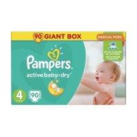 PAMPERS Подгузники Active Baby-Dry Maxi (8-14 кг) Упаковка 90шт
