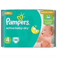 PAMPERS Подгузники Active Baby-Dry Maxi (8-14 кг) Экономичная Упаковка 46шт