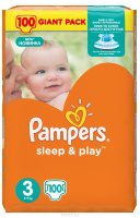 Pampers  Подгузники Sleep & Play Midi (5-9 кг) Упаковка 100