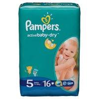Pampers Подгузники Active Baby-Dry Junior (11-18 кг) Стандартная Упаковка 16