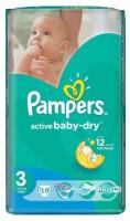 PAMPERS Подгузники Active Baby-Dry Midi (5-9 кг) Микро Упаковка 10
