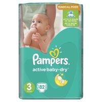 PAMPERS Подгузники Active Baby-Dry Midi (5-9 кг) Упаковка 82