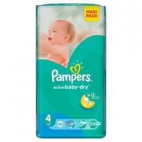 PAMPERS Подгузники Active Baby-Dry Maxi (7-14 кг) Микро Упаковка 10