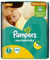 PAMPERS Подгузники New Baby-Dry Newborn (2-5 кг) Упаковка 94
