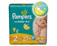 PAMPERS Подгузники New Baby-Dry Mini (3-6 кг) Стандартная Упаковка 27