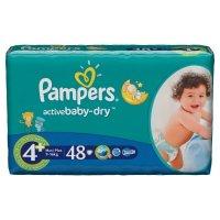 Pampers Подгузники Active Baby Maxi Plus (9-16 кг) Экономичная Упаковка 48