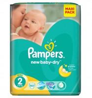 PAMPERS Подгузники New Baby-Dry Mini (3-6 кг) Экономичная Упаковка 66