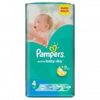 PAMPERS Подгузники Active Baby-Dry Maxi (7-14 кг) Экономичная Плюс Упаковка 58
