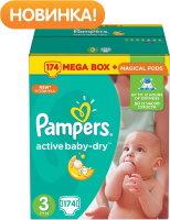 PAMPERS Подгузники active Baby-Dry Midi (5-9 кг) 174