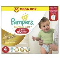 PAMPERS Подгузники-трусики Premium Care Pants д/мальчиков и девочек Maxi (9-14 кг) Мега Упаковка 66шт