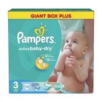 PAMPERS Подгузники Active Baby-Dry midi (5-9 кг) 126