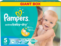 PAMPERS Подгузники Active Baby-Dry Junior (11-18 кг) Джайнт Плюс Упаковка 78