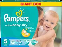 PAMPERS Подгузники Active Baby-Dry Junior (11-18 кг) Джайнт Плюс Упаковка 78