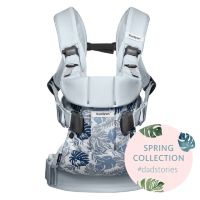 One Cotton Mix Spring Collection Pale blue/Leaf print
